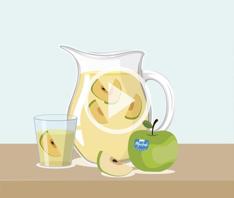 Aromatizzare l'acqua con una mela Granny Smith